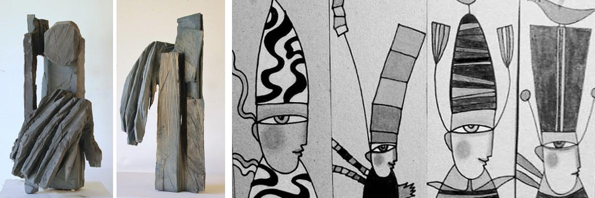 Ausstellung von Ursula Gschwendtner - Radierungen- und Felicia Däuber -Skulpturen-